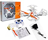 Akshat Lh-x16 Drone Quadcopter 4-ch 2.4ghz Remote Control with 6-axis Gyro (White, Orange)