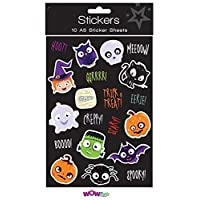 10 Packs Halloween Spooky Stickers Trick or Treat Party Bag Fillers