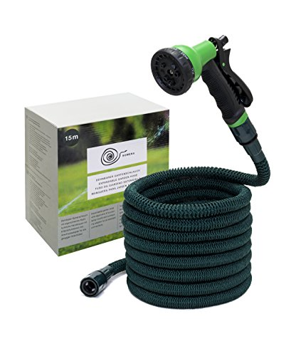 15m Premium Gartenschlauch Flexibler Wasserschlauch Dehnbarer Flexischlauch DE