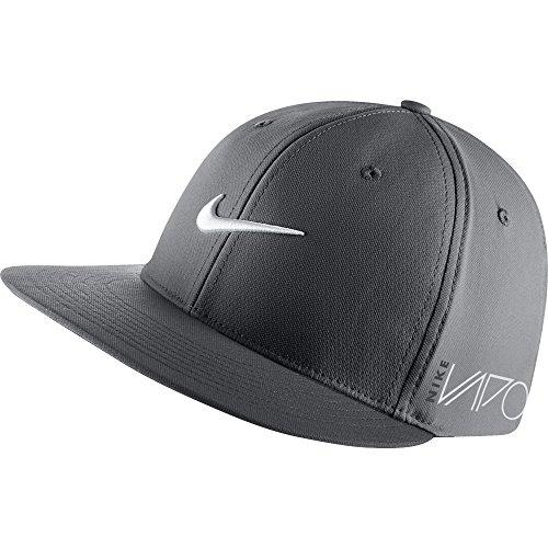 New Nike True Tour Rzn Vapor Dark Grey White Fitted Flatbill S M Hat Cap 631b3895cce5
