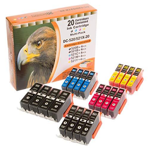 ESMOnline komp. Canon Druckerpatronen zu PGI-520 / CLI-521 (20er Set Mehrfarbig)