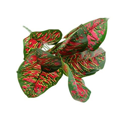 Red Künstliche Rohdea Verlässt Blattpflanzen Büro Zu Hause Gartenhochzeit Dekor
