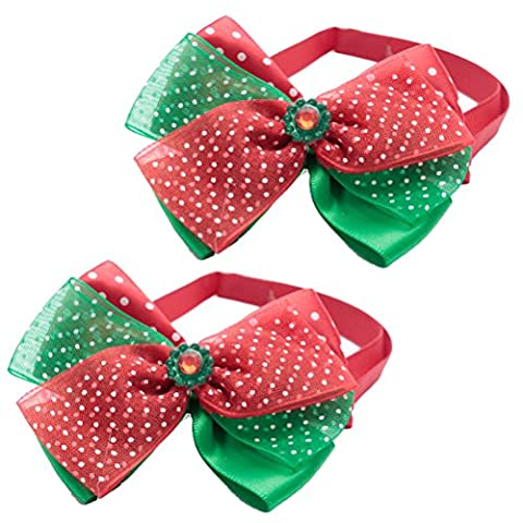 Zhhlaixing Haustier pack of 2 Adjustable Soft Pet Dog Cat Puppy Bow Ties Necktie Pet Cosutme Party Grooming Accessories