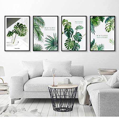 e Blätter Wand Kunst Poster Leinwanddruck Für Haus Unternehmen Büro Restaurant Wohnzimmer Wanddekoration Malerei ()