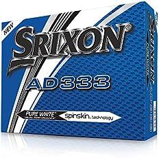 Srixon AD333 Palline Da Golf, Modello 2018, Bianco, 1 Dozzina