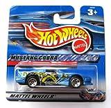 Hot Wheels Ford Mustang Cobra blaumetallic 1:64