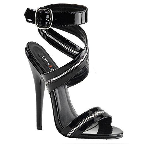 Domina-schuhe (Higher-Heels PleaserUSA Sandaletten Domina-119 Lack schw. Gr. 45)
