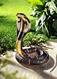 abcHome Kobra Gartendeko Schlange Tier Deko Dekofigur Außendeko Tierfigur Garten Deko
