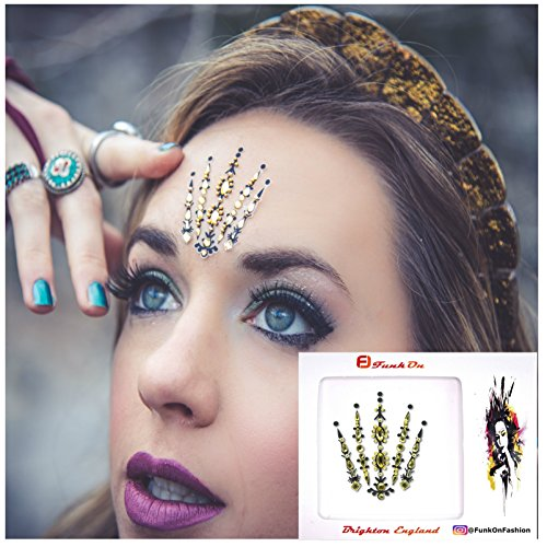 GOLD FACE GEM- FACE JEWELS FOR FESTIVALS -BODY -