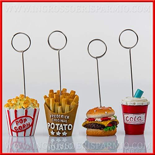 Ingrosso e risparmio 12 portafoto/memoclip originali tema fast food cibo idee moderne compleanno diciottesimo bomboniere (senza confezionamento)