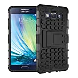 ImagineDesign™ Defender Tough Hybrid Armour Shockproof Hard PC + TPU with Kick Stand Rugged Back Case Cover for Samsung Galaxy A5 , A500F (2015) – Black