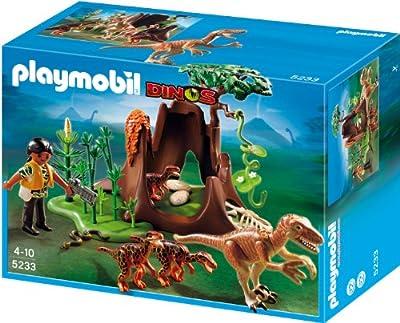 Playmobil Dinosaurios - Velociraptors y exploradora (5233) de Playmobil