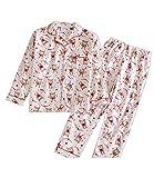 DYLH Hiver-Printemps Femme Ensemble de Pyjama Coton Combinaison Costume 2 Pcs Blanc XL
