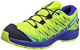 Salomon Kinder XA Pro 3D CSWP J, Trailrunning-Schuhe, Wasserdicht, grün (acid lime / surf the web / tropical green), Größe 39