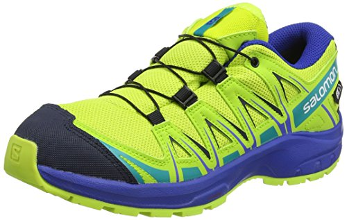 Salomon XA PRO 3D CSWP J, Scarpe da Trail Running Unisex-Bambini, Verde (Acid Lime/Surf The Web/Tropical Green), 38 EU