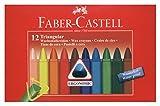 Faber-Castell 120010 - Dreikant Wachsmalstifte, 12er Etui Bild