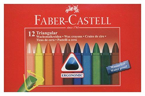 Faber-castell 120010 - pastelli a cera, 12 pezzi