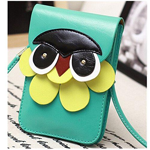 EVTECH (TM) Mini Owl multifonction Porte-monnaie poignet sac à main Enveloppe Portefeuille Housse pour Mini Mini de l'iphone 4 4S 5 5c Samsung Galaxy S3 S5830