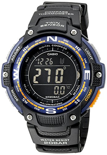 Casio Men's Twin Sensor SGW100-2B Black Rubber Japanese Quartz Sport Watch