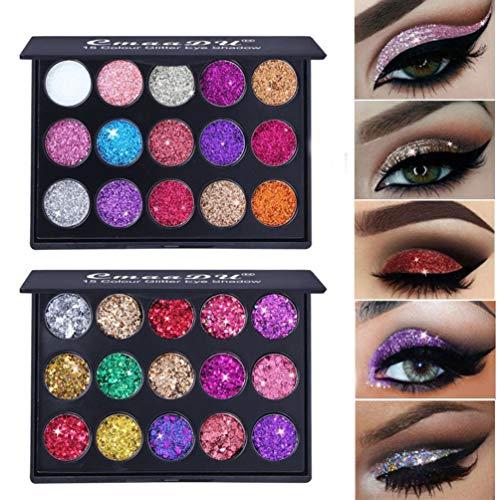 51Ge0rw6p L - Deniseonuk Sombra de Ojos de 15 Colores Sombra de Ojos de albañilería Sombra de Ojos de 2 Colores