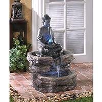 Smart Living Zen Buddha Brunnen Outdoor Backyard Meditation LED Glowing Lichter
