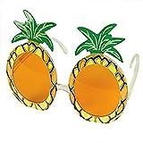 Jooks Hawaiian Pineapple Stil Gläser Hawaii Tropical Ananas Sonnenbrille Ananas Sonnenbrille Gläser für Kostümpartys Partybrille Party Abendkleid Partei Dekoration