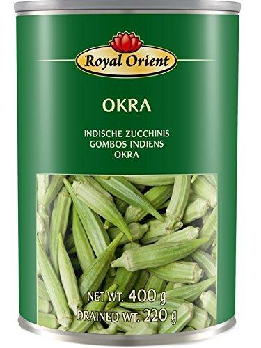Okra in Salzwasser [ 425g / 220g ATG ] INDISCHE ZUCCHINIS Marke Royal Orient