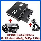 HP Dockingstation HSTNN-I10X + HP Netzteil 120W für Elitebook 8440p 8460p 8540p