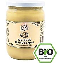 KoRo ● Mandelmus Weiß Bio ● 500 g ● Ohne Zucker Und Salz ● Ohne Zusätze ● Vegan ● Brotaufstrich ● Nussmus ● Aus 100% Mandeln ● Nuss Creme