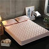 SUYUN Protector de colchón, Impermeable, sobrecolchón,Juego de colchón de algodón Laberinto sueño - Jade Marfil 90cmX200cm