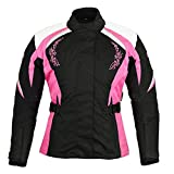Women Motorbike Jacket - Ladies Motorcycle Armored Textile Cordura Waterproof Jacket Coat