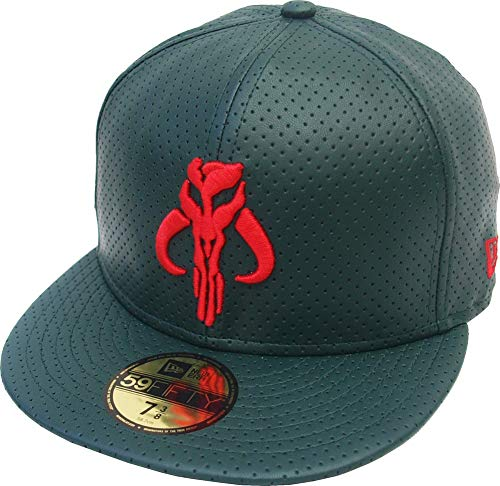 New Era Star Wars Boba Fett Dark Green Leather 59fifty Fitted Cap 5950 Limited Edition