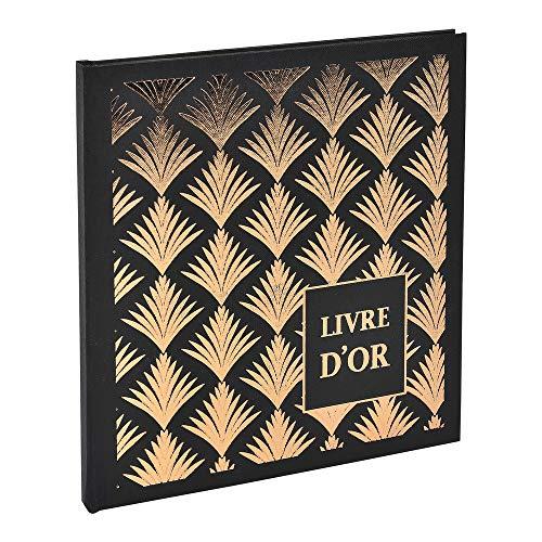 Livre d'or 140 pages tranche or - Format 21x19cm - PALMYRE noir palmier
