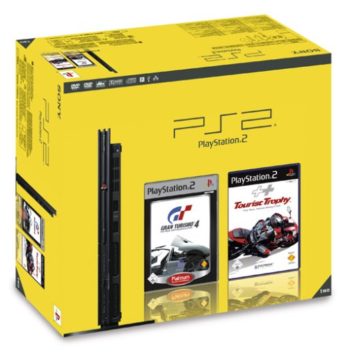PlayStation 2 - PS2 Konsole, black inkl. Gran Turismo 4 + TouristTrophy Bundle (Ps2 Video Game Bundle)