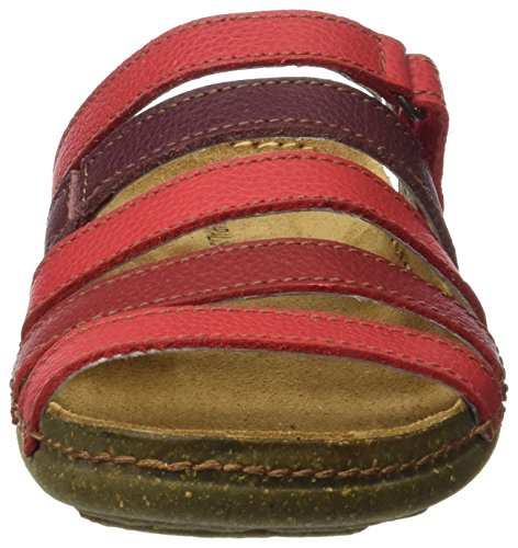 El Naturalista N327 Soft Grain Torcal, Sandali Open Toe Donna Rosso (Tibet Mixed)