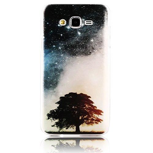 per Samsung Galaxy J5 (2015) J500 TPU Custodia Cover Case Bumper , Vandot 3D 0.5MM Transparente Ultrathin Light Sottile Dura PC con Traslucido Resistente Antiscivolo Zero Posteriore Della Caso - Galaxy stella