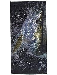 Sombrero Máscara Protectora de Pesca Bufanda Pañuelo de Cuello Multifuction de UV -Color Agua Tarpon