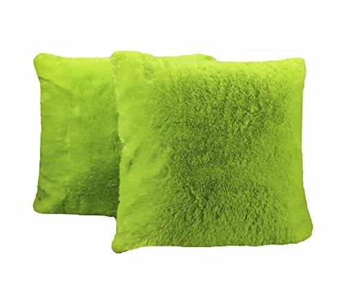 PimpamTex Coussins décoration 45 X 45 Pack 2 unités - Coussins pour canapé et Chambre avec Rembourrage - modèle Chin (Mauve) 45_x_45 Jaune Citron