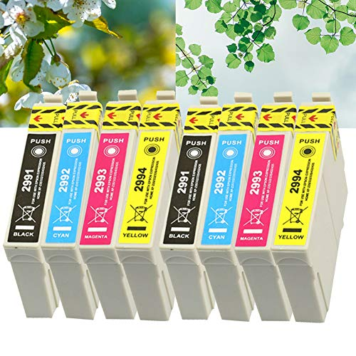 Ouguan 8x Cartucce d'inchiostro Compatibile Epson 29 XL 29 per Epson XP-342 XP-442 XP-245 XP-432 XP-345 XP-247 XP-235 XP-255 XP-257 XP-352 XP-452 XP-455 XP-335 XP-332 XP-435 XP-445