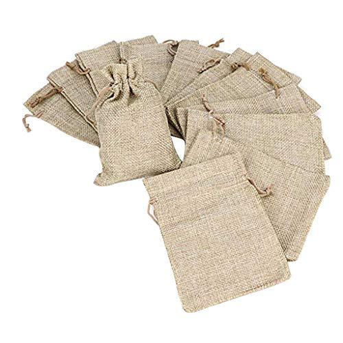 Handgepäck Aufbewahrungstasche,Rifuli® 50pcs 13.5x9.5CM Beutel-Jutebeutel für Geschenk-Schmuck Personal Organizer Ablageboxen Spielzeugaufbewahrung