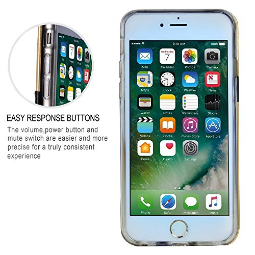 Cover iPhone 6 Pelle Rosso - Supad Case ultra sottile [Cards] Custodia Posteriore Portafoglio Custodia per Apple iPhone 6/6s 4,7 Oro