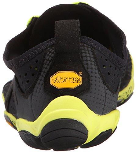 Vibram Fivefingers V-Run, Scarpe da Corsa Uomo, 44 EU Nero (Black/Yellow)
