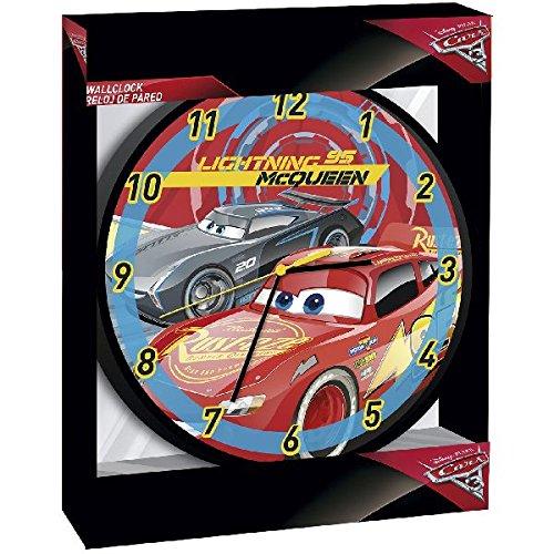 Disney WD17830 Cars Lightning McQueen Wall Clock, 25 cm