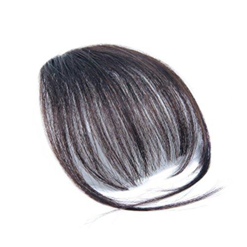 Frcolor Fashion One Piece Clip in Haar Pony/Franse Haar mit Clip gefälschte Haarteile für Alltag Cosplay Karnoval (natürliche Farbe)