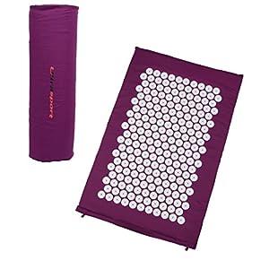 Ultrasport Akupressurmatte bzw. Yantramatte mit Tragetasche, vielfältig verwendbare Nadelreizmatte, Matte für Entspannung und Stressabbau, 78 x 46 x 2 cm, Massagematte, Entspannungsmatte, violet