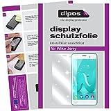 dipos I 2X Schutzfolie klar passend für Wiko Jerry Folie Bildschirmschutzfolie