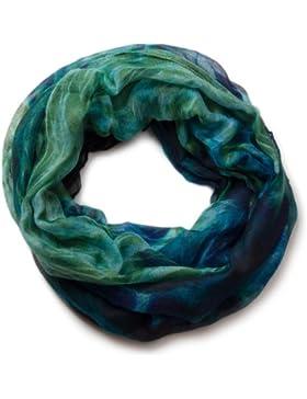 styleBREAKER Loop Schal mit Flammen Batik Muster, Schlauchschal, Tuch, Damen 01018041