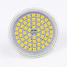 JZK® 4 x LED GU10 6W 12V foco Halógeno Lámpara de la bombilla, Bi-pin, Conecta y reproduce, No regulable, Blanco cálido