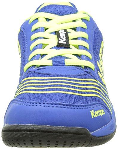Kempa  ATTACK ONE JUNIOR, Chaussures indoor mixte enfant Bleu (Royal/Jaune Fluo)
