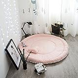Süß Weich Kind Baby Mädchen Damen Krabbeldecken| Spielbögen| Spielmatte| Spielteppiche Mit 1 Herzförmiges Kissen (Rosa)